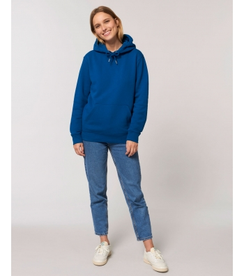 SWEAT-SHIRT Femme Capuche épais et intérieur doux coton BIO Bleu roy