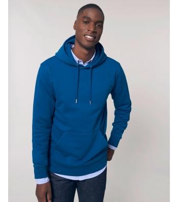 SWEAT-SHIRT Homme Capuche épais et intérieur doux coton BIO Bleu roy
