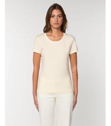 TEE-SHIRT femme coton bio coupe féminine  et cintrée couleur coton naturel sans teinture
