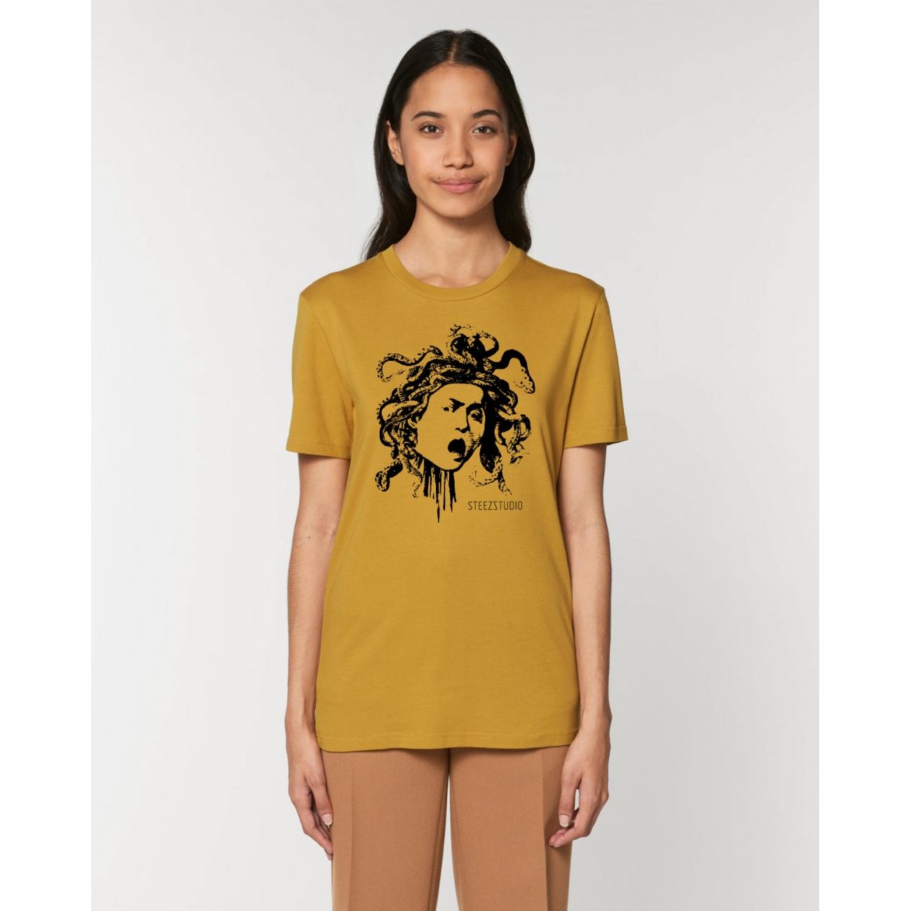 https://tee-shirt-bio.com/10329-thickbox_default/tee-shirt-femme-coton-bio-col-rond-coupe-classique-jaune-ocre-impression-meduse-caravage.jpg