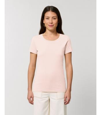 TEE-SHIRT femme coton bio coupe féminine  et cintrée rose layette