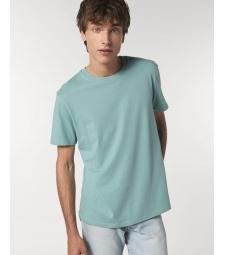 TEE-SHIRT homme coton bio col rond, coupe classique vert d'eau