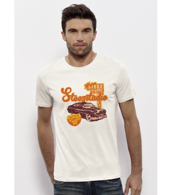 TEE-SHIRT Coton Bio doux Visuel US Motors