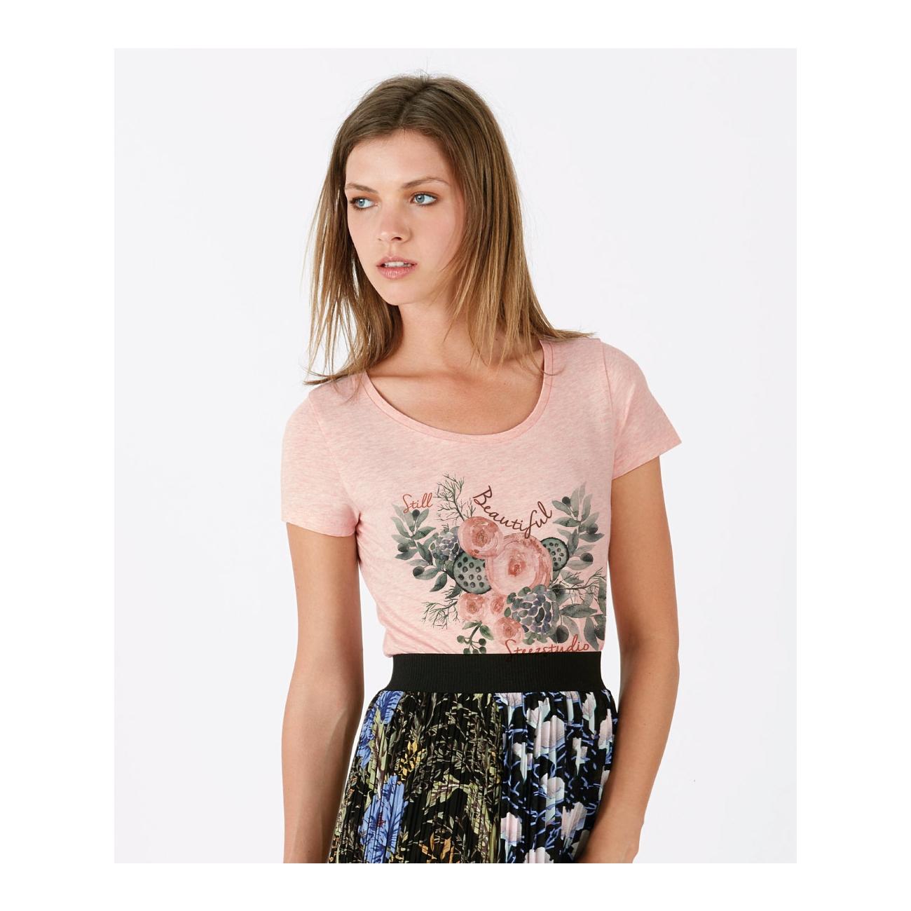 tee shirt rose tendre chin femme coton bio quitable. Black Bedroom Furniture Sets. Home Design Ideas
