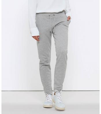 Pantalon de Jogging en coton Bio, gris chiné pour Femme