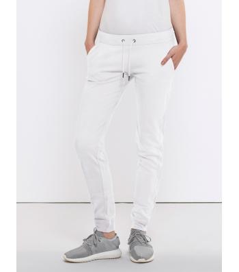 Pantalon de Jogging en coton Bio,Blanc pour Femme