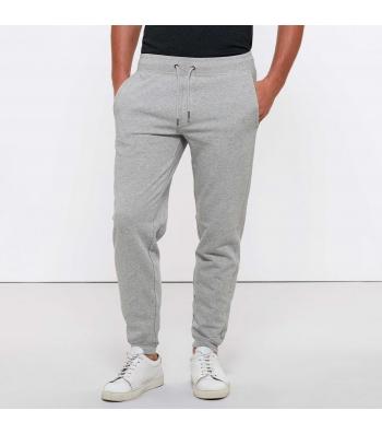 Pantalon de Jogging en coton Bio, gris chiné pour Homme
