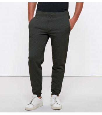 Pantalon de Jogging en coton Bio, Gris chiné foncé pour Homme