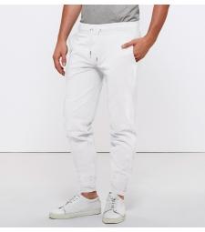 Pantalon de Jogging en coton Bio, Blanc pour Homme