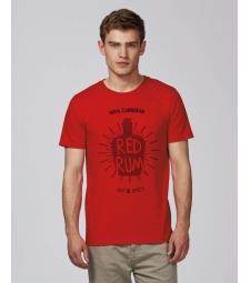 TEE-SHIRT coton Bio rouge Homme  Tee shirt Rhum