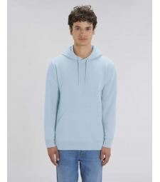SWEAT-SHIRT Capuche épais et intérieur doux coton BIO Bleu clair