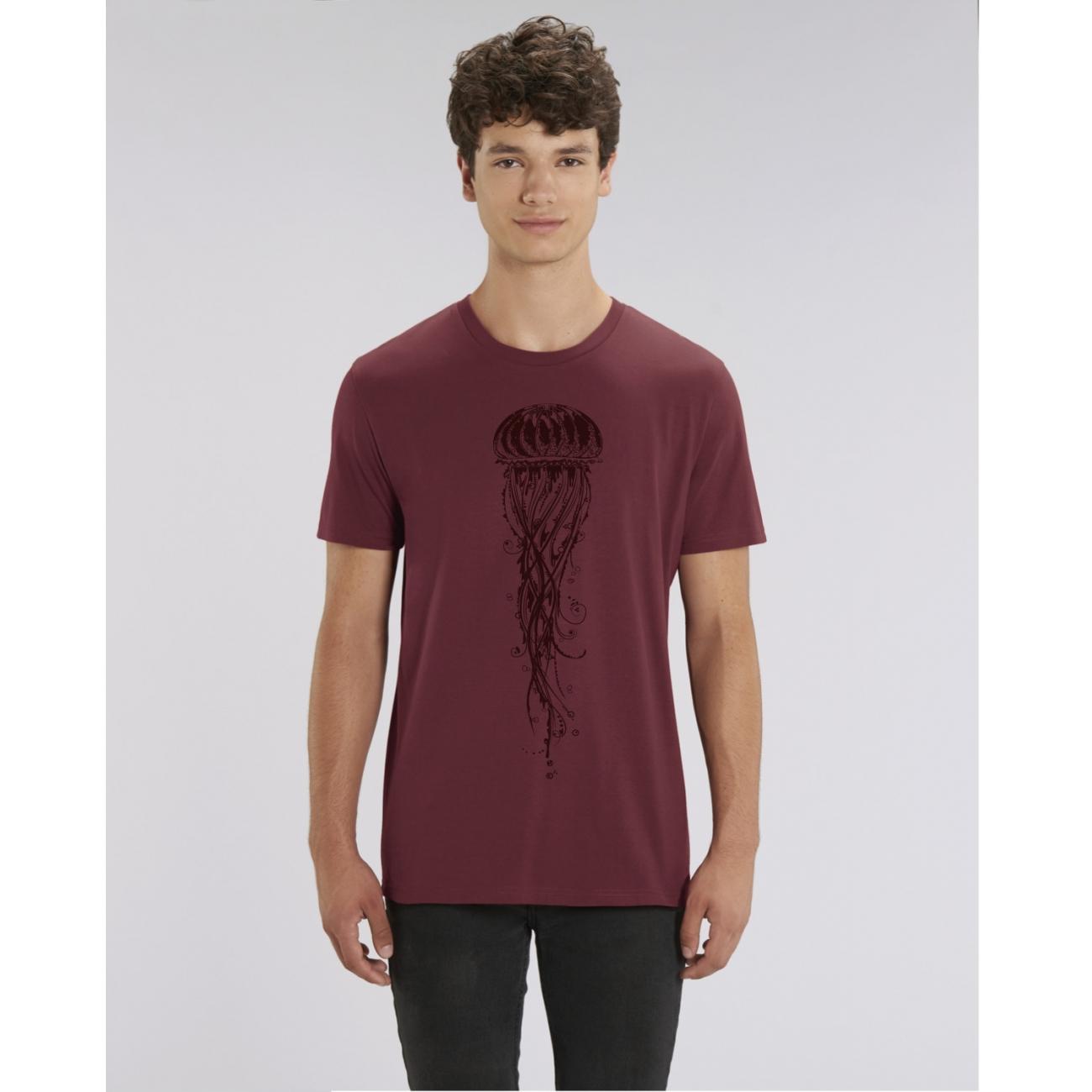 https://tee-shirt-bio.com/7835-thickbox_default/tee-shirt-coton-bio-col-rond-bordeaux-classique-impression-meduse-creator.jpg