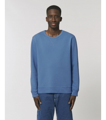 SWEAT-SHIRT Homme Sweat col rond Coton Bio dyed cadet blue