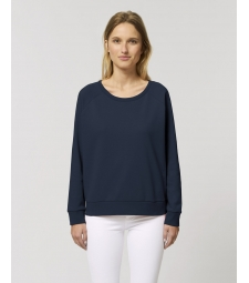 SWEAT col rond bleu marine French Navy coton bio éthique
