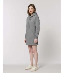 ROBE Sweat-shirt capuche gris chiné poche kangourou Coton Bio