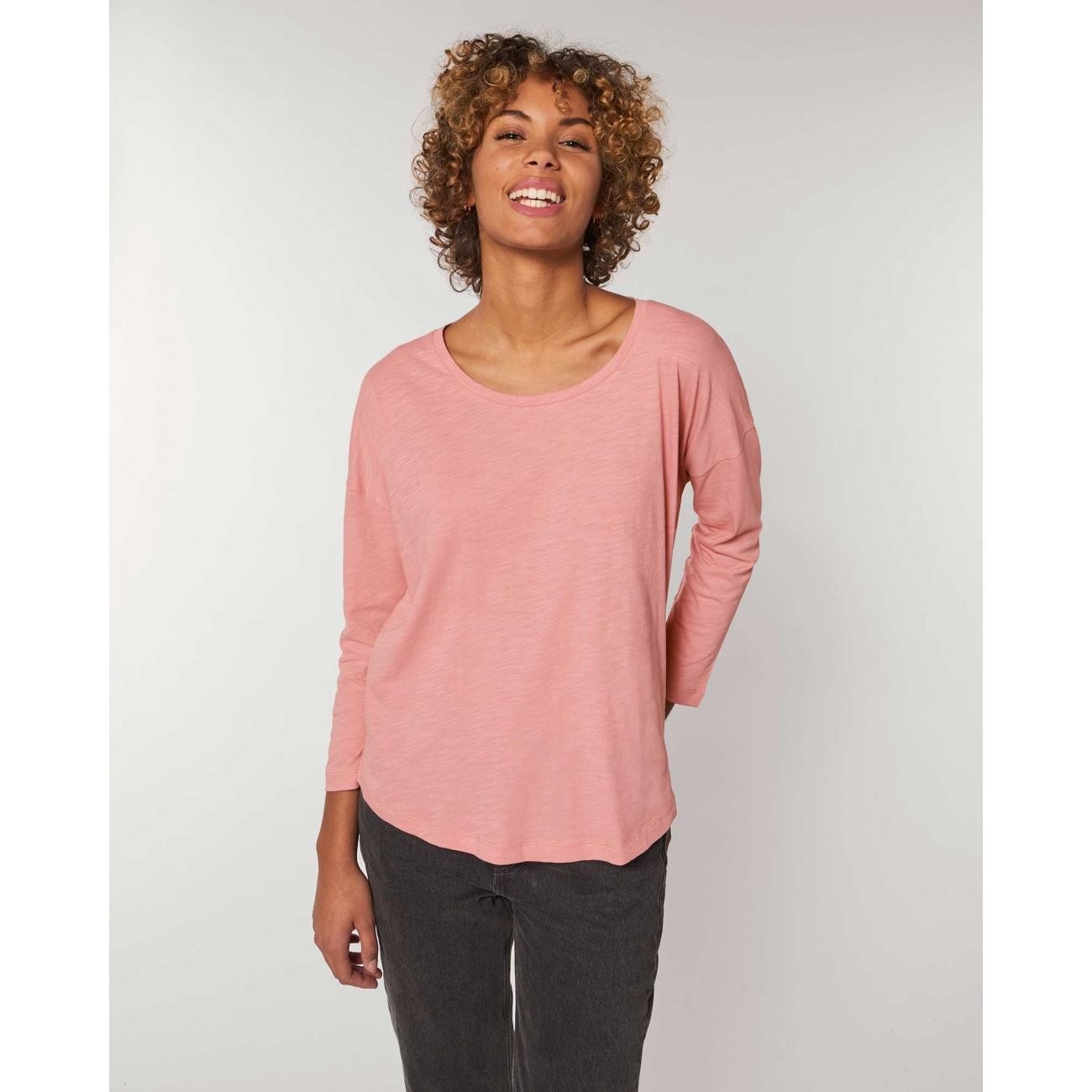 https://tee-shirt-bio.com/9195-thickbox_default/tshirt-femme-manches-34-epaules-tombantes-manches-serrees-coton-bio-fwf-rose-flamme-.jpg