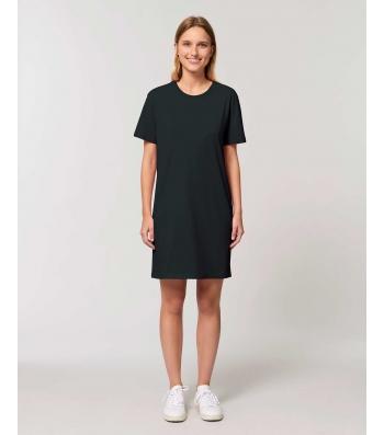 ROBE Tee-shirt coton bio noir manches courtes