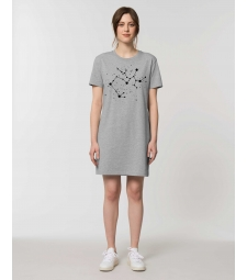 ROBE Tee-shirt coton bio gris chiné impression Constellation