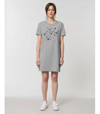ROBE Tee-shirt coton bio gris chiné impression Constellation