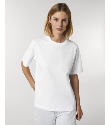 TEE-SHIRT coton bio  coupe ample femme - blanc