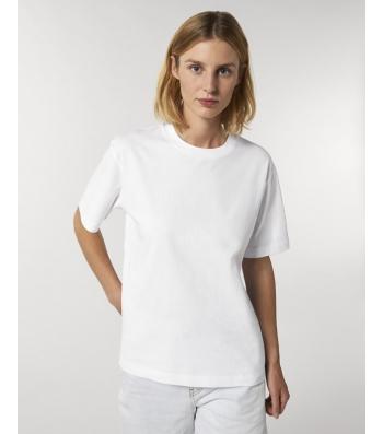 TEE-SHIRT coton bio  coupe ample femme - blanc
