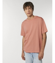 TEE-SHIRT coton bio coupe ample homme - rose