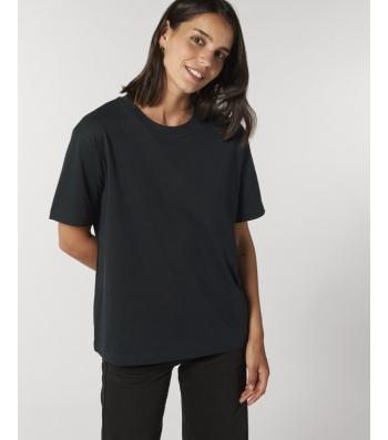 TEE-SHIRT coupe ample femme coton bio - noir