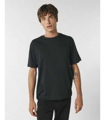 TEE-SHIRT coton bio coupe ample homme - noir