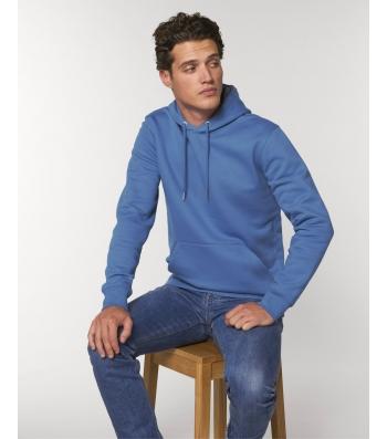 SWEAT-SHIRT Capuche épais et intérieur doux coton BIO beau bleu