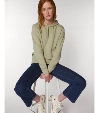 SWEAT-SHIRT Femme Capuche épais et intérieur doux coton BIO vert sauge