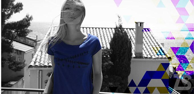 teeshirt steezstudio bleu roy tendance large mode imprimé oiseaux teeshirt tencel eucalyptus