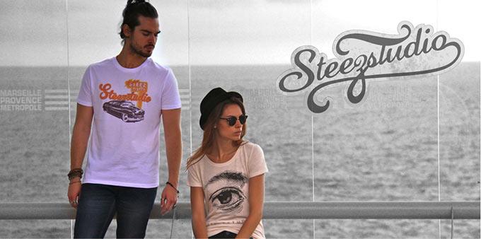 Tee-shirt steezstudio voiture vintage the eyes slub