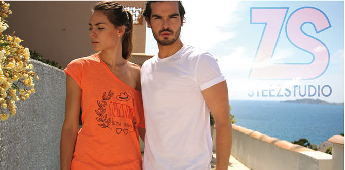 Tee-shirt Steezstudio coton bio slub lauriers