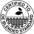 label textile certified oe blended standard